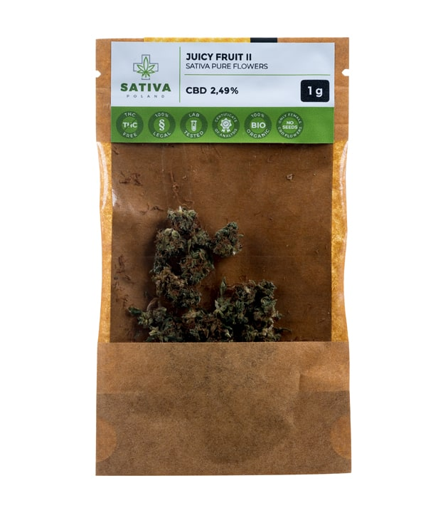Susz CBD - Sativa Poland - Juicy Fruit II 2,49%