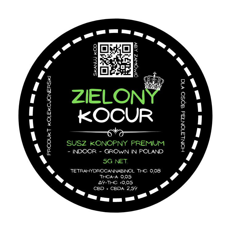 Susz CBD - Zielony Kocur 8%